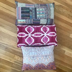 Bundle of three Cost Plus Boho pillows